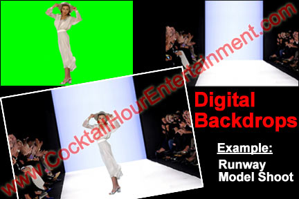 green screen digital backdrops