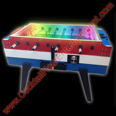 foosball with LED lights upgrade