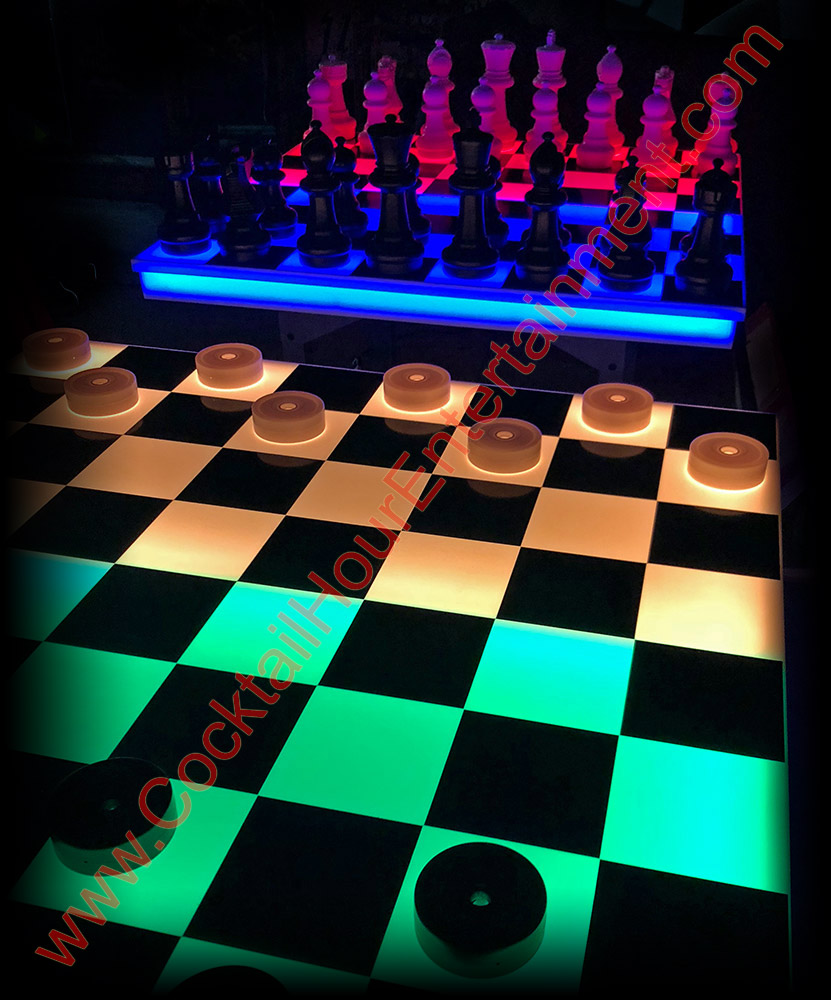 led chess led checkers