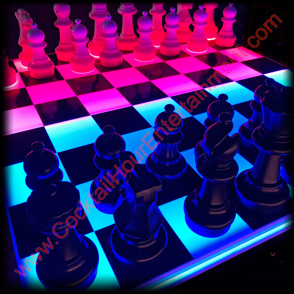 LED checkers chess