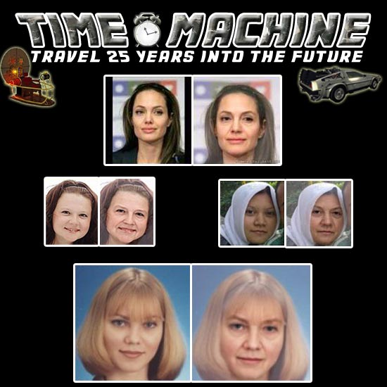 time machine age progression photo package