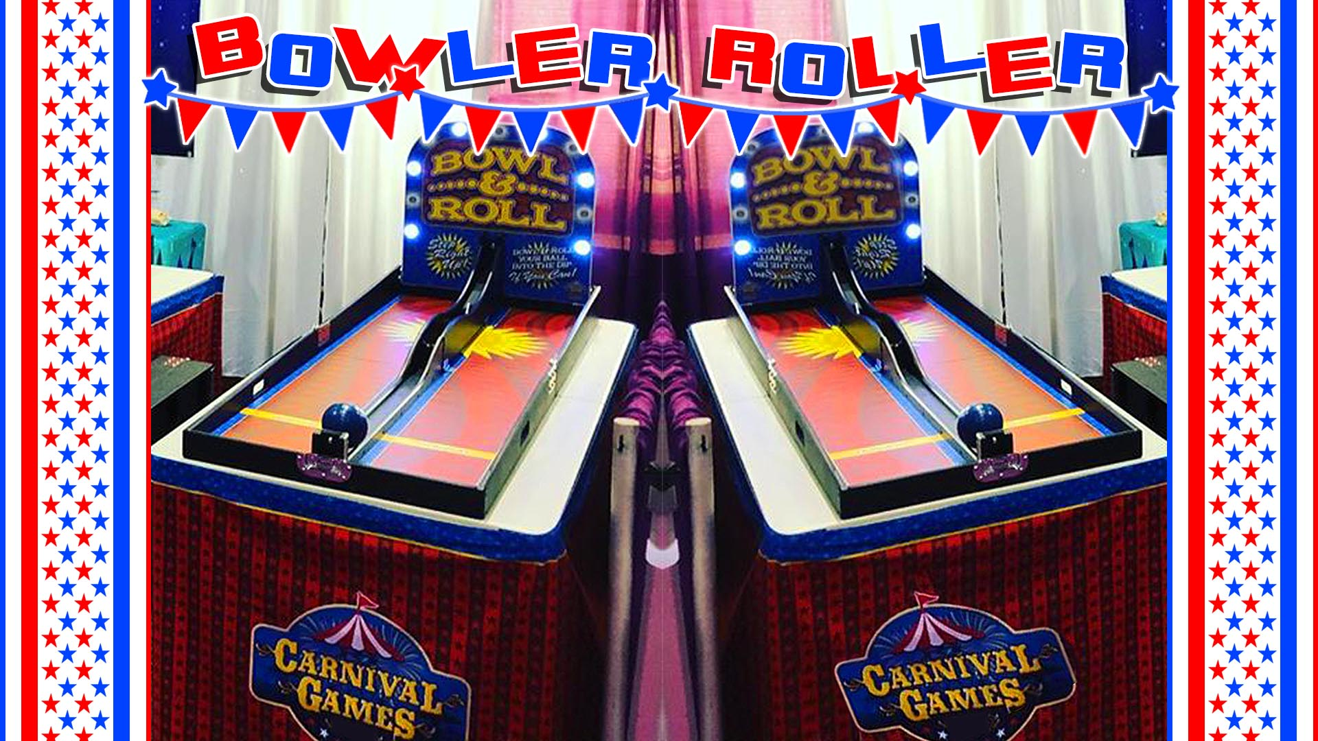 bowling ball roll carnival game