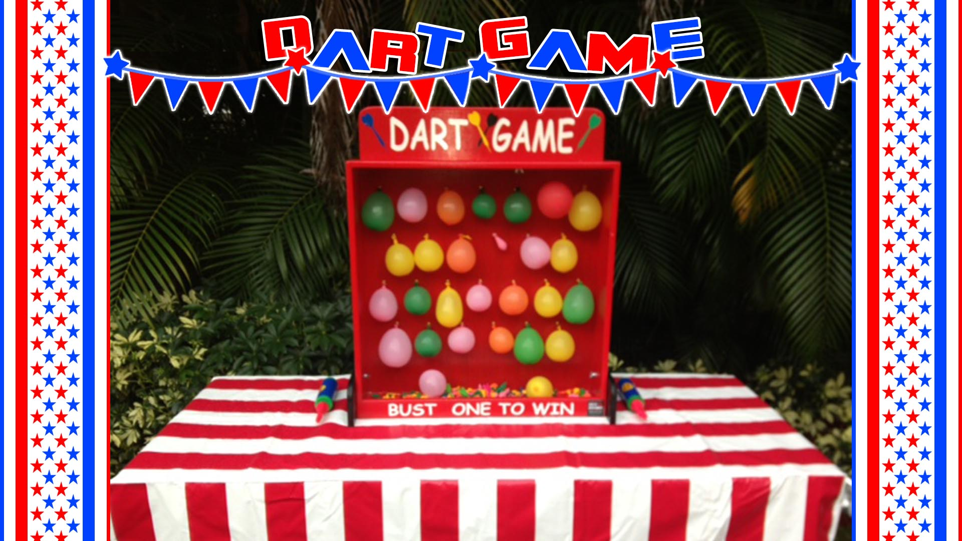 dart balloon pop carnival game