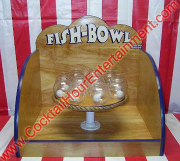 carnival  fish bowl ping pong toss game