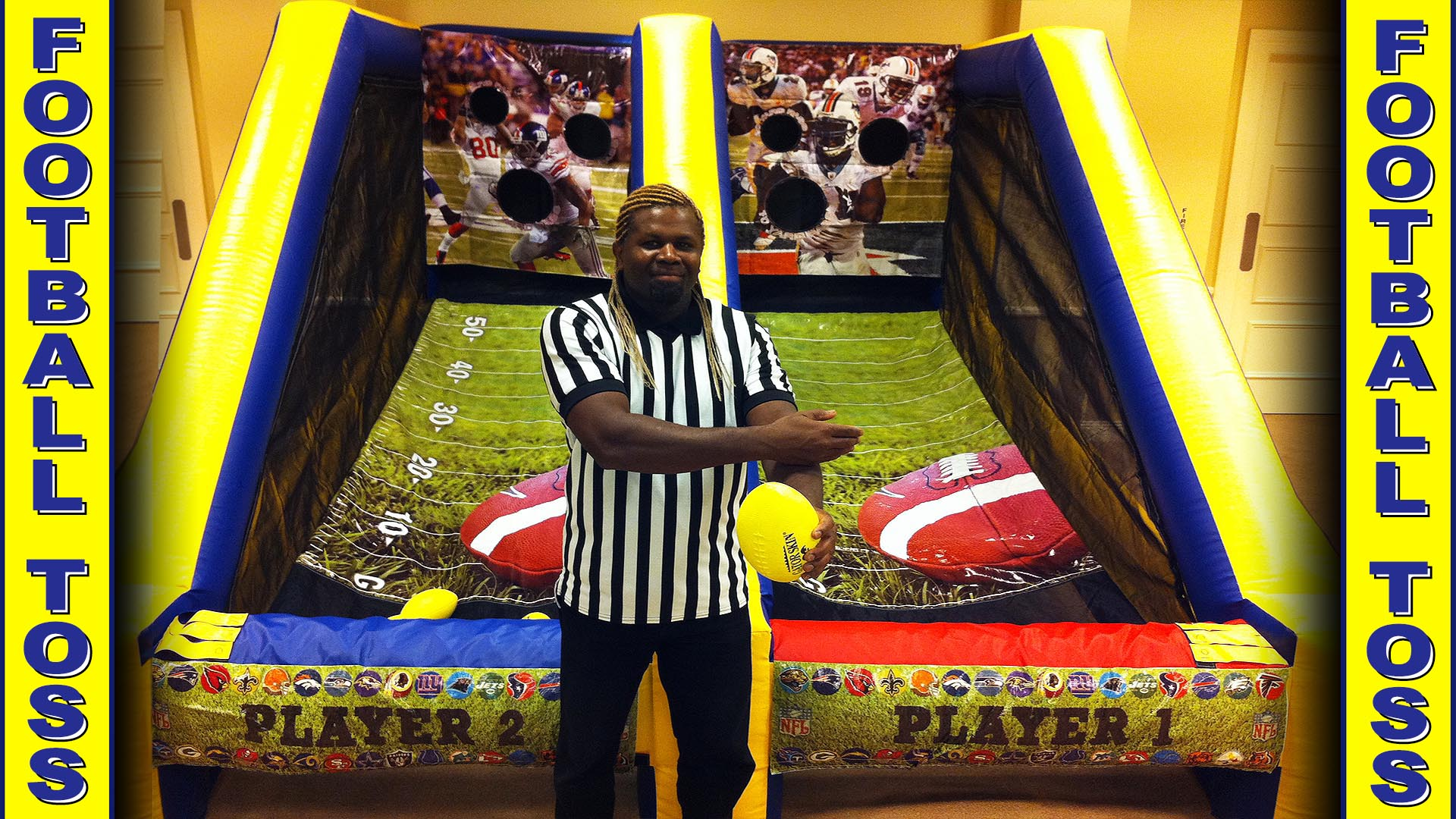 inflatable football toss carnival game