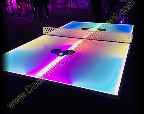 lighted ping pong table
