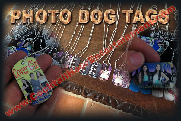 green screen photo dog tags