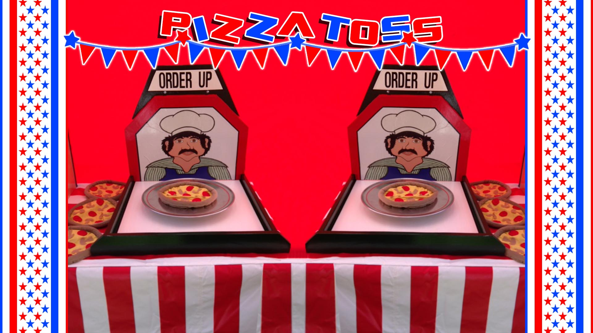 pizza toss carnival game