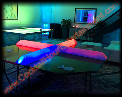 4-player ping pong with led lights