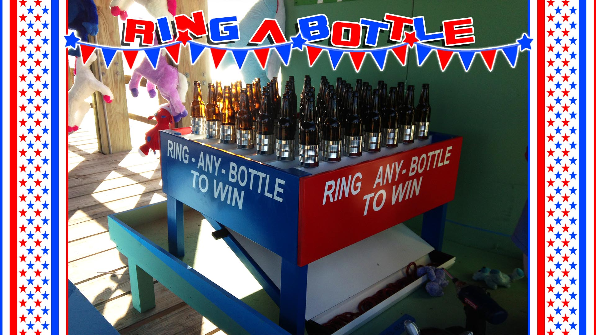 ring a bottle carnival game