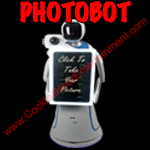 robot photo booth button