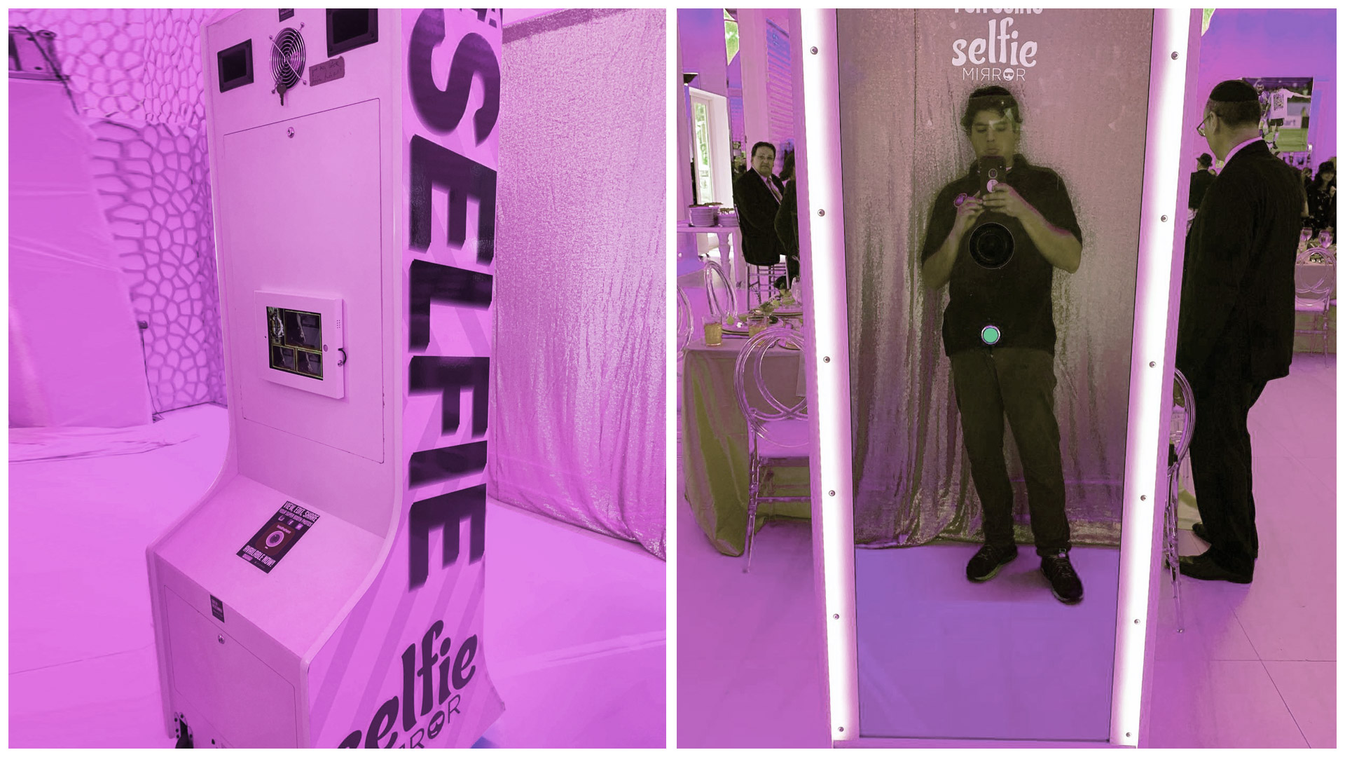 selfie photo booth mirror