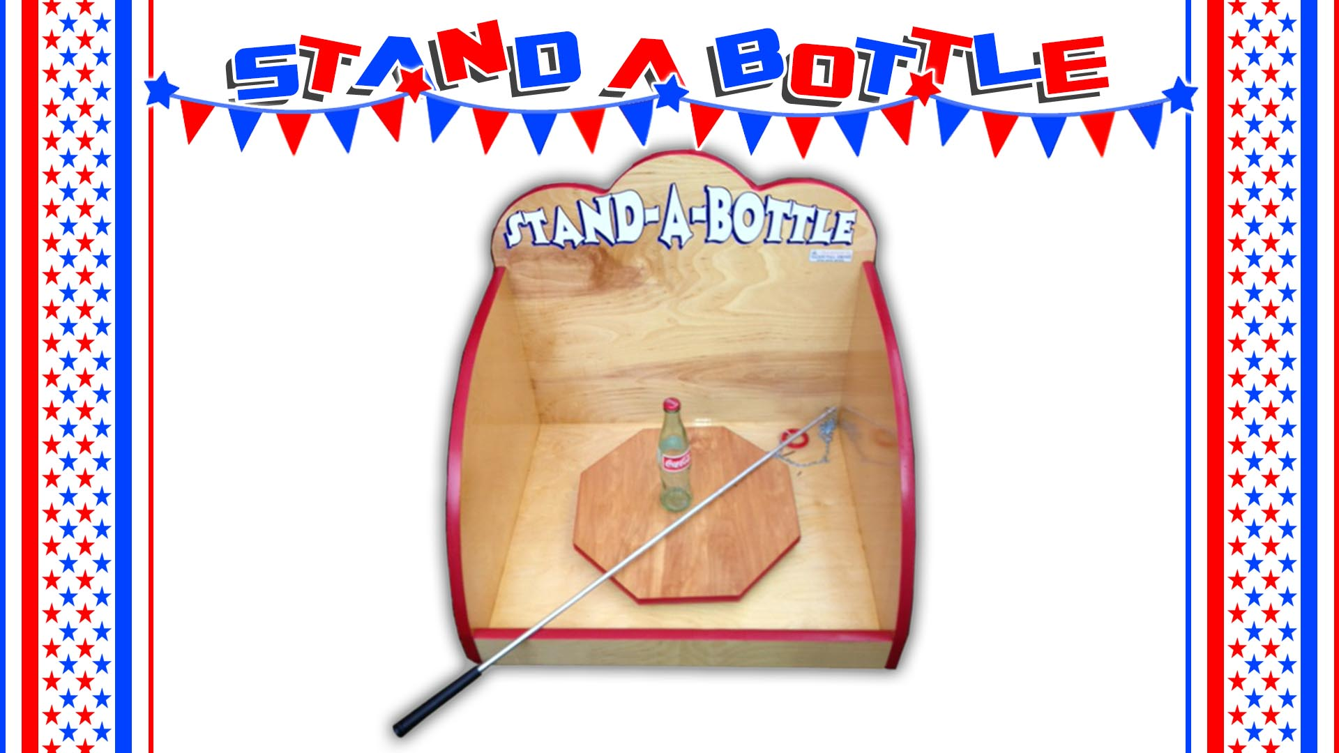 stand the bottle carnival game