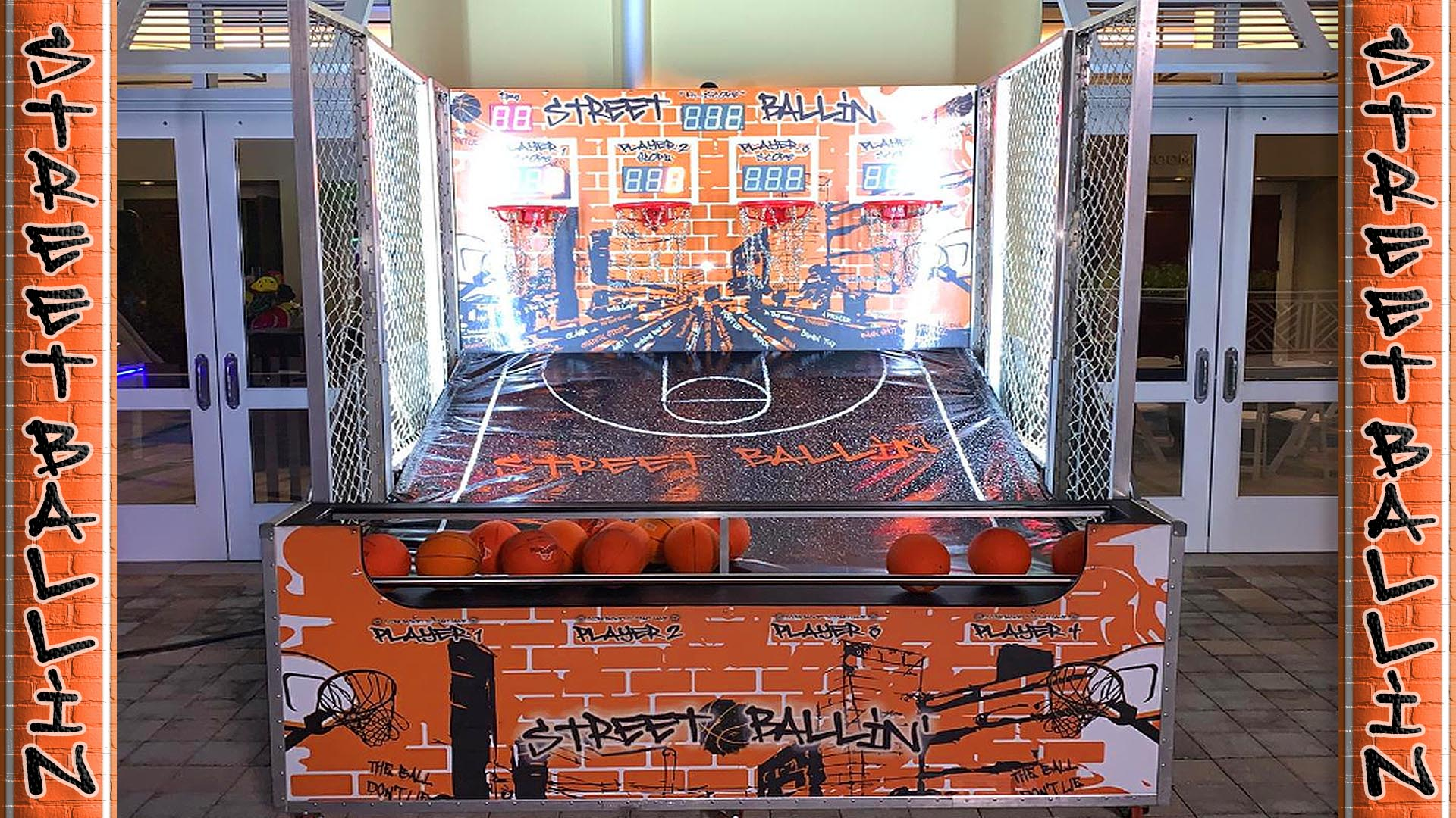 deluxe basketball toss carnival game